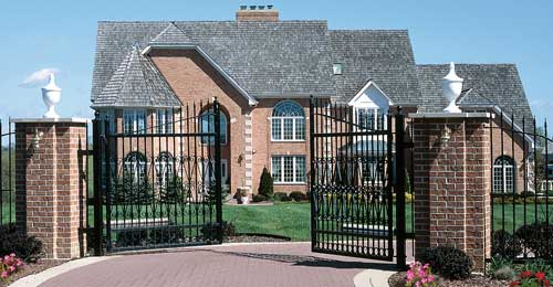 Residential Wrought Iron Gate
